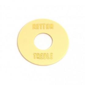Plaque rhythm & treble LesPaul crème