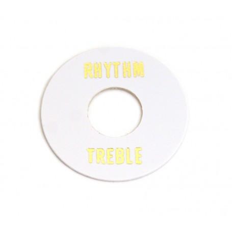 Plaque rhythm & treble LesPaul blanche