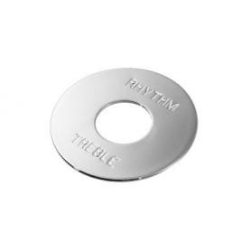 Plaque LesPaul métal chrome