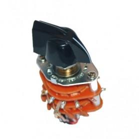 Sélecteur micro rotatif 6 positions 4 poles avec bouton