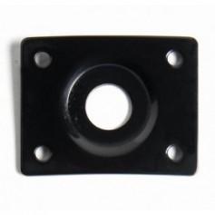 Plaque jack incurvée rectangulaire noir