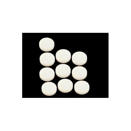 10 repères de touche diamètre 6mm blancs