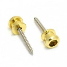 2 boutons pour attache sécurité doré