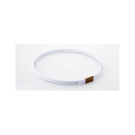 Binding blanc ep 1mm x 8mm x 1m65