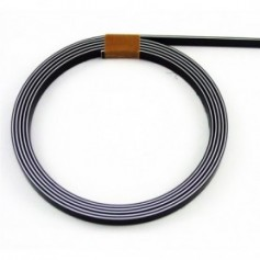 Binding 3 ply bk/w/bk ep 1,7mm x 6,35m x 1m65