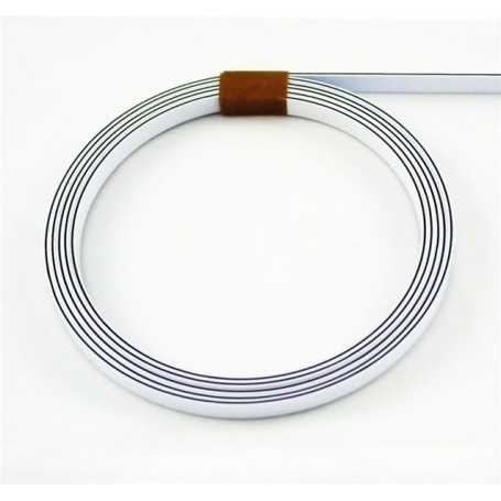 Binding 3 ply w/bk/w ep 1,7mm x 6,35mm x 1m65