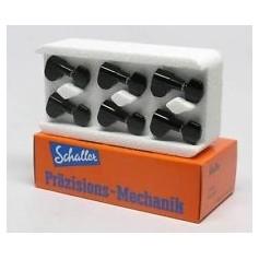 Mecaniques guitare Schaller® M6 3x3 noir