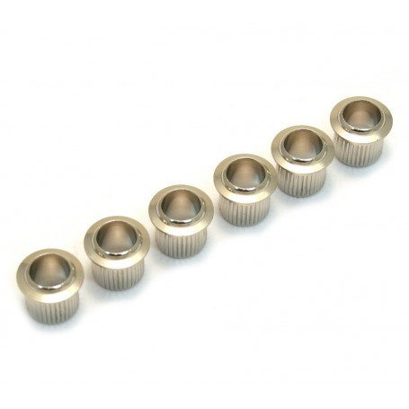 6 bushings mécaniques vintage 8,7mm nickel