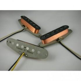 Set 3 micros Gn'B Stratocaster blues vieux blancs
