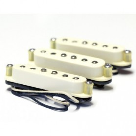 Set 3 micros Tornade MS Stratocaster 50's vieux blanc