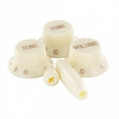 Kits 5 boutons Stratocaster® vieux blanc