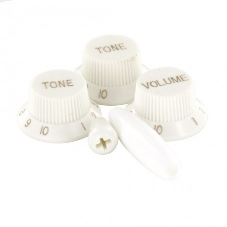 Kits 5 boutons Stratocaster blanc