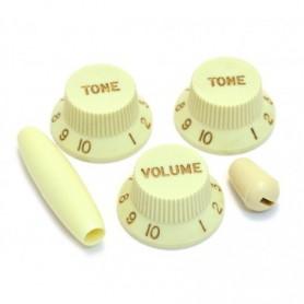Kit 5 boutons US Stratocaster mint vert