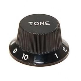 Bouton type Stratocaster tone noir