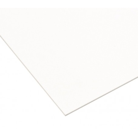 Plaque vierge à decouper 30x45cm blanche 1 pli