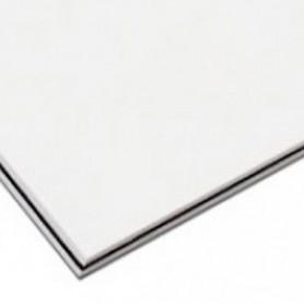 Plaque vierge à decouper 30x45cm blanche 3 plis