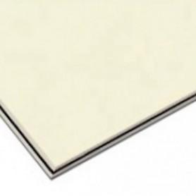 Plaque vierge à decouper 30x45cm vieux blanc 3 plis