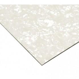 Plaque vierge à decouper 30x45cm blanc nacré 3 plis