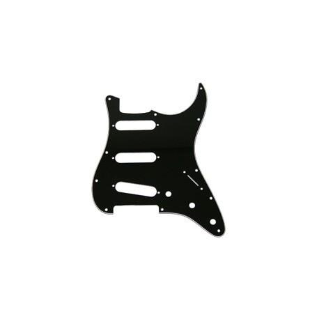 Plaque 3 micros simples Stratocaster US noire