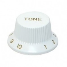 Bouton type Stratocaster® tone blanc
