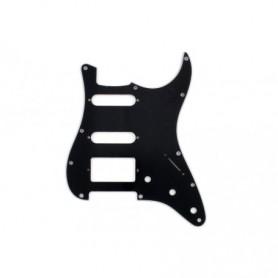 Plaque 1 micro double & 2 simples Stratocaster US noire