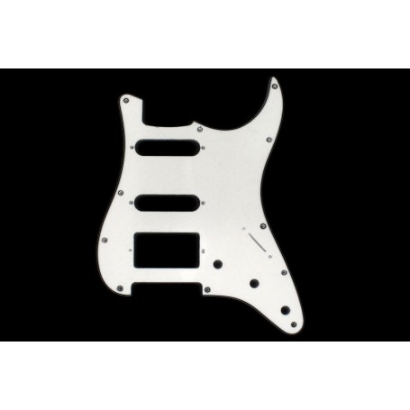 Plaque 1 micro double & 2 simples Stratocaster US blanche