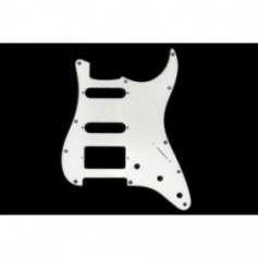 Stratocaster Pickguard HSS US 3 plis blanc