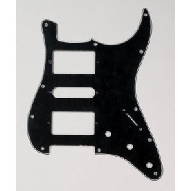 Plaque 2 micros double & 1 simple Stratocaster US noire