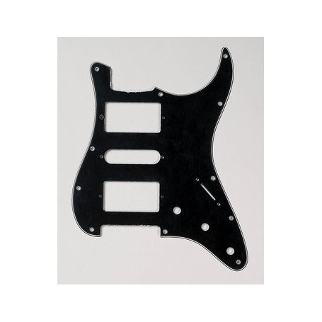 Plaque 2 micros double & 1 simple Stratocaster US noire
