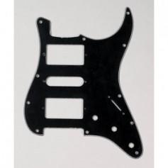 Stratocaster Pickguard HSH US 3 plis noir