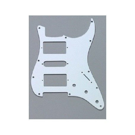 Plaque 2 micros double & 1 simple Stratocaster US blanche