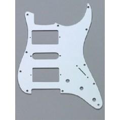 Stratocaster Pickguard HSH US 3 plis blanc