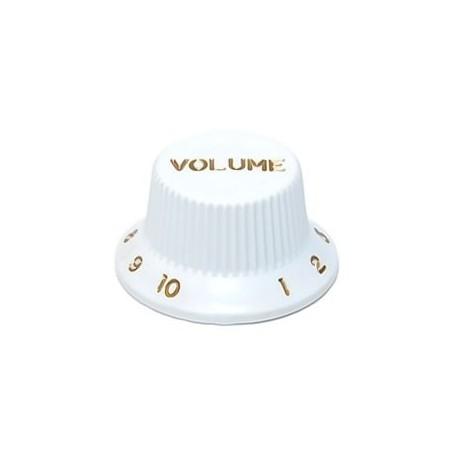 Bouton type Stratocaster volume blanc