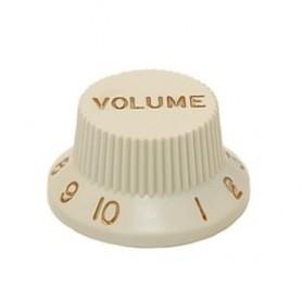 Bouton type Stratocaster volume vieux blanc