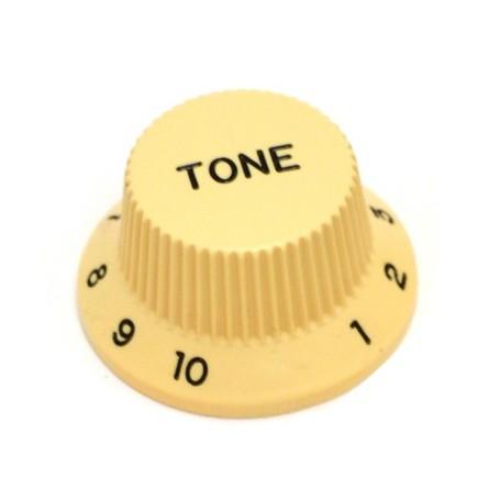 Bouton type Stratocaster tone crème