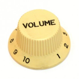 Bouton type Stratocaster volume crème