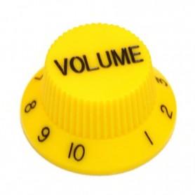 Bouton type Stratocaster volume jaune