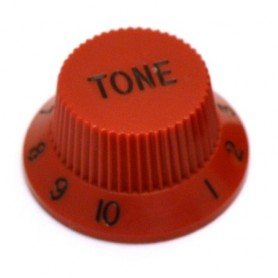 Bouton type Stratocaster tone rouge