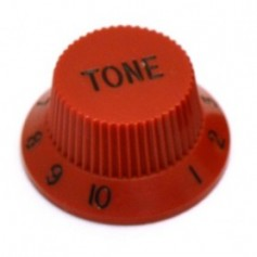 Bouton type Stratocaster® tone rouge