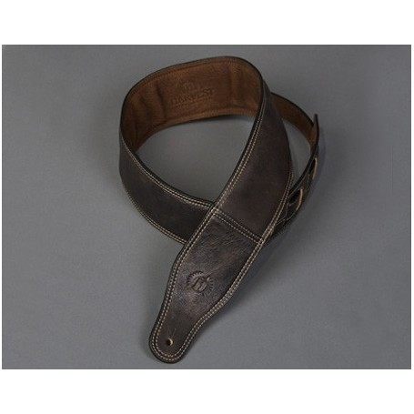 Sangle Harvest cuir antique brun 137-153 / 7 cm
