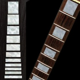 Sticker guitare touche type LesPaul custom blanc abalone