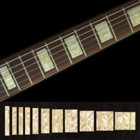 Sticker guitare touche type LesPaul custom vieux blanc pearl