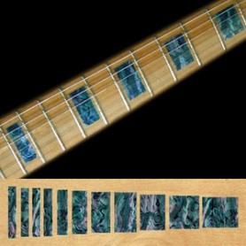Sticker guitare touche type LesPaul custom bleu abalone