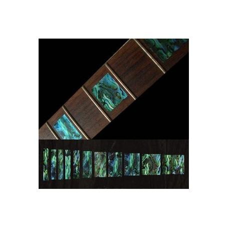 Sticker guitare touche type LesPaul custom vert abalone