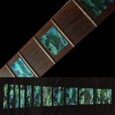 Sticker guitare touche type LesPaul® custom vert abalone