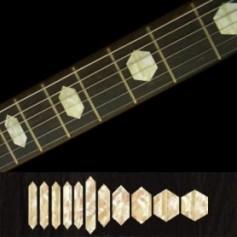 Sticker guitare touche hexagone vieux blanc pearl
