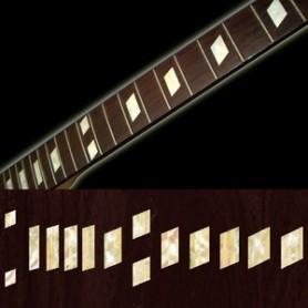 Sticker guitare touche casino trapeze vieux blanc pearl