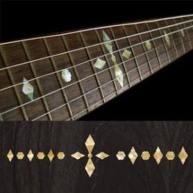 Sticker guitare touche checker vieux blanc pearl