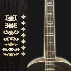 Sticker guitare touche deluxe 1 vieux blanc pearl