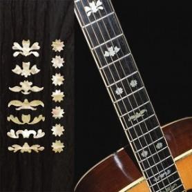 Sticker guitare touche deluxe 3 vieux blanc pearl